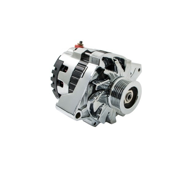 Universal Gm Chevy Serpentine High Output Chrome Alternator