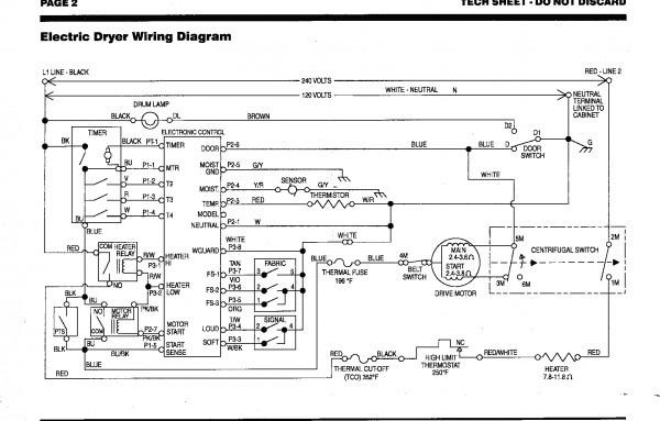 Wiring Diagram Gas Dryer