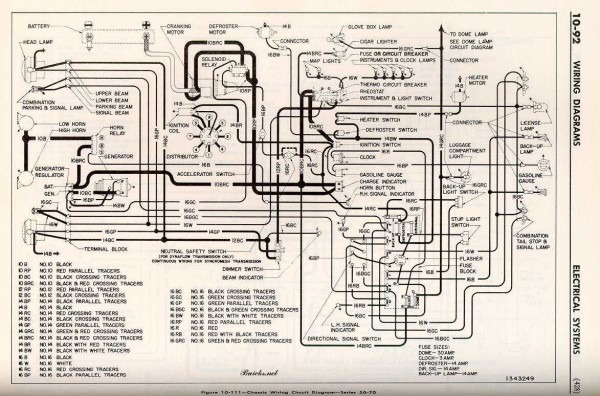 1952 Buick Chassis Wiring Circuit Diagram