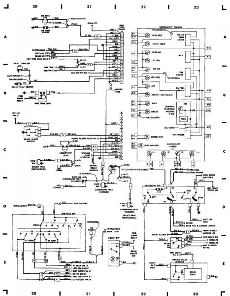 1988 Jeep Wrangler Wiring Schematic