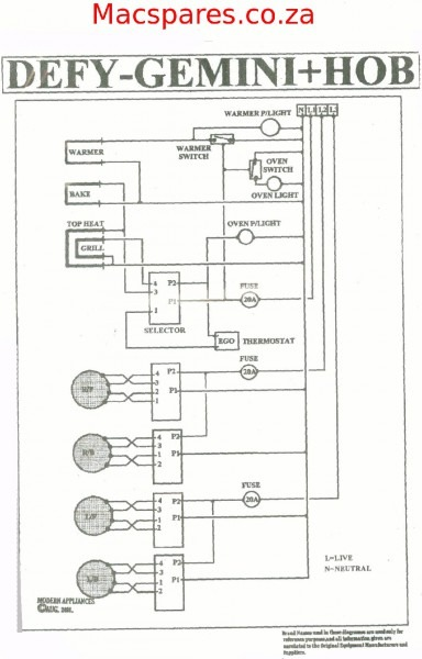 Wiring Diagram For Stove