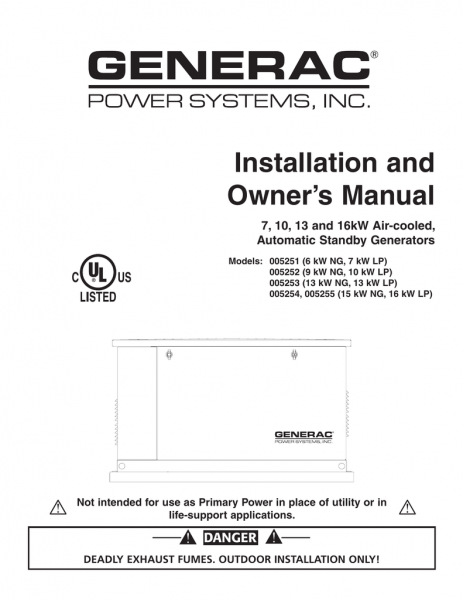 Carrier 17kw Owner`s Manual