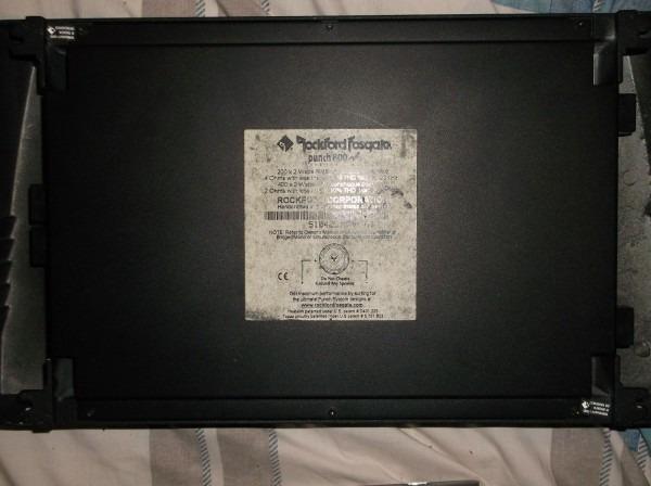 Old School Rockford Fosgate Punch 800a2 Amp + Endcaps!! Rare Beast