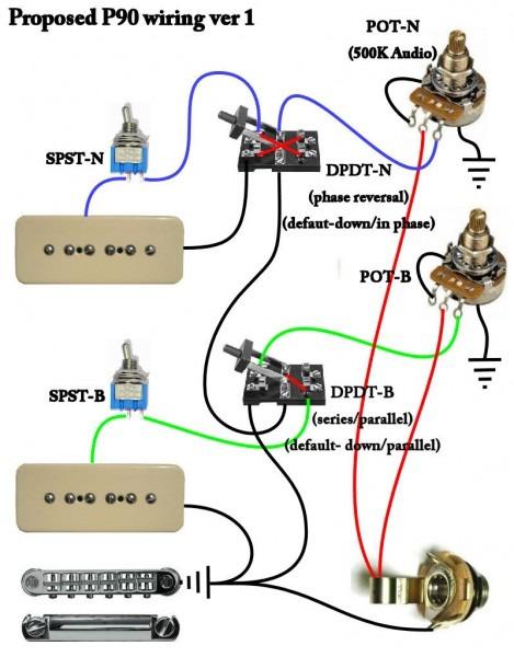 Strat P90 Wiring Diagram