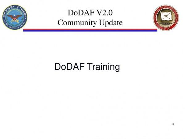Dodaf V2 0 Community Update Overview