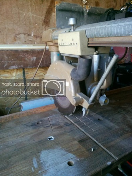 Old Craftsman Radial Arm Saw 1950`s Or 60`s