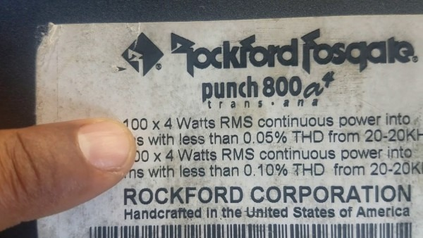 Rockford Fosgate Punch 800a2 And Rockford Fosgate Punch 800a4