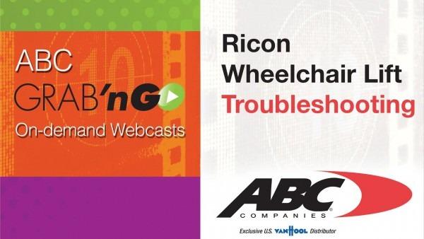 Gg018 Grab'ngo  Ricon Wheelchair Lift