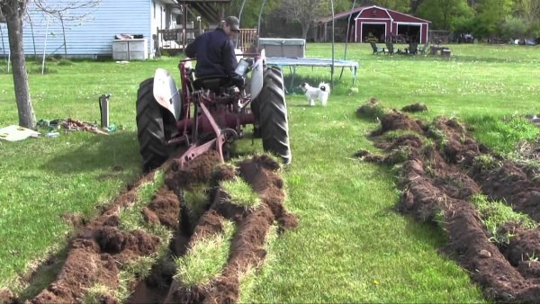 53 Ford Jubilee Tractor Plowing Virgin Soil (not A How To, Still