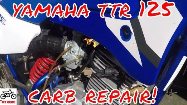 Yamaha Ttr 125 Carburetor Clean   Fix ~ Cleaning The Pilot Jet