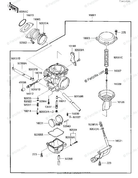 Kawasaki Atv 1986 Oem Parts Diagram For Carburetor