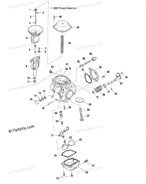 Polaris Atv 2003 Oem Parts Diagram For Carburetor