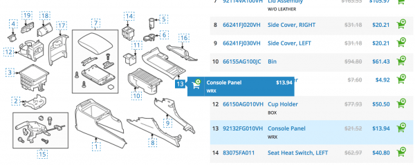 How Accurate Are The Subaru Parts Diagrams For The Wrx